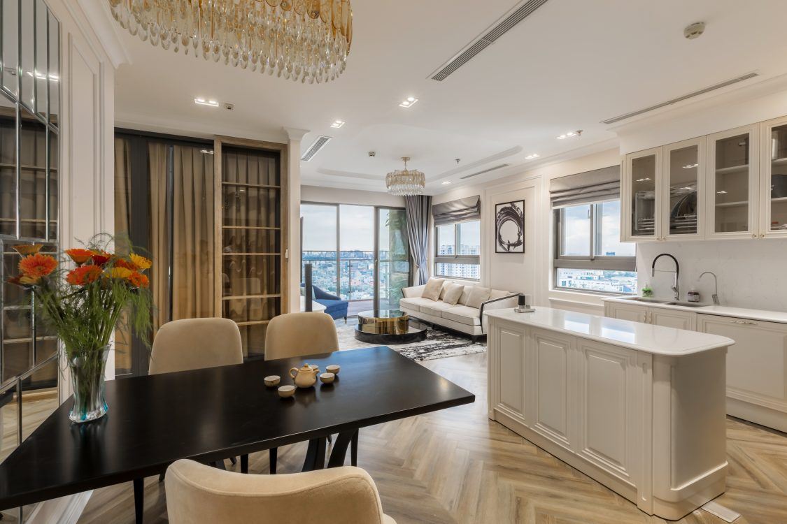 Thiết kế nội thất Tân cổ điển cho căn hộ chung cư diện tích nhỏ